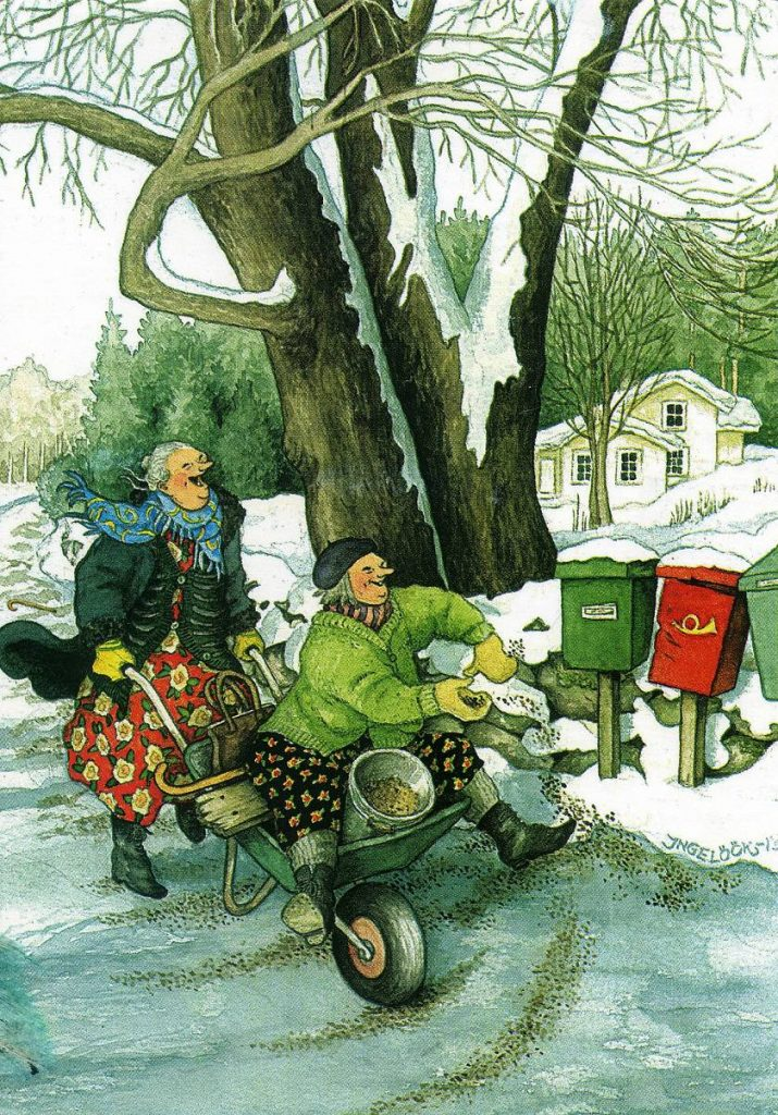 Финская художница Инге Лёёк и её весёлые старушки